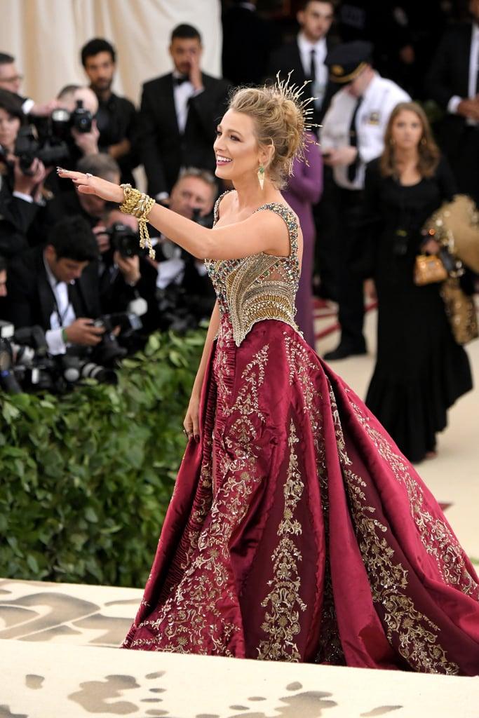 2018 Blake Lively Met Gala Dress 2018 Popsugar Fashion