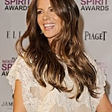 Kate Beckinsale wore her hair down for today's event.