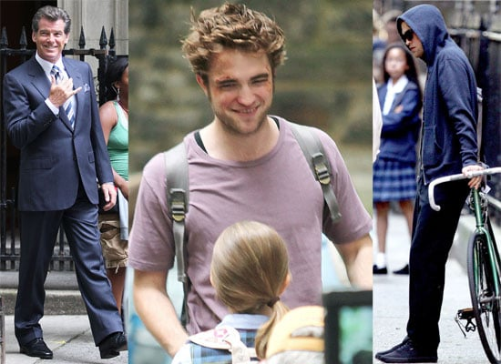 Photos Of Robert Pattinson, Pierce Brosnan and Diane Sawyer On The Set Of Remember Me In New York City