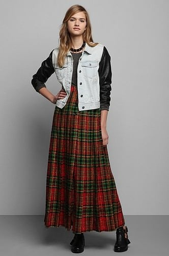 Add a shearling-lined jacket to this Vintage '80s Oscar De La Renta Plaid Wool Skirt
