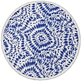 Enchante Home Indigo Round Cotton Beach Towel