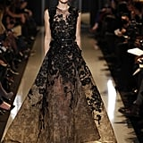 After Jennifer Lopez's gorgeous turn in Zuhair Murad at the Golden Globes, we'd love to see her take on another more covered-up gown silhouette courtesy of Elie Saab this time around. Source: Courtesy of Elie Saab