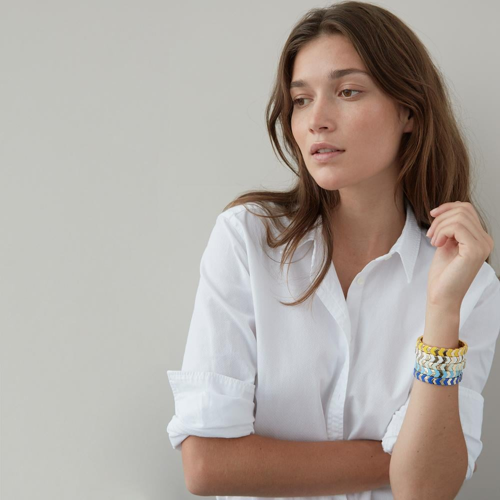 Roxanne Assoulin Gilded Herringbone Bracelet