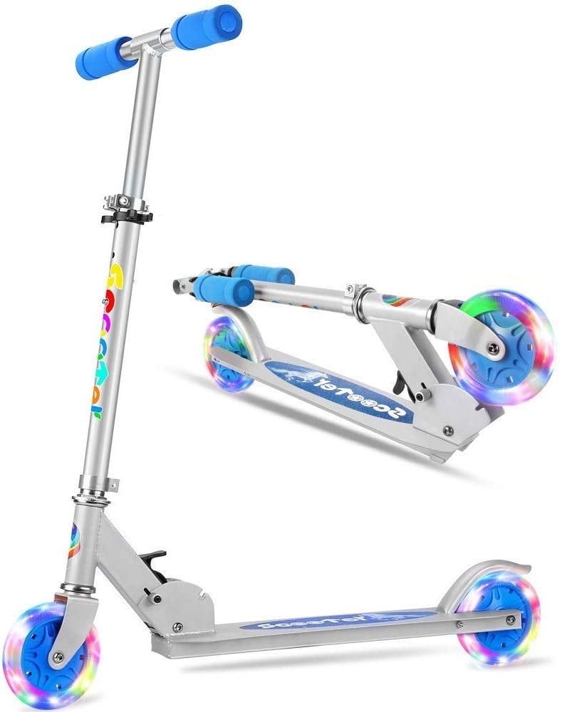 For 7-Year-Olds: Folding LED Light Up Wheels Scooter