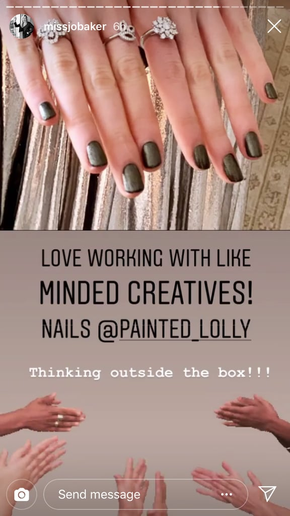 Lucy Boynton's Dark Nails at the 2020 Golden Globes