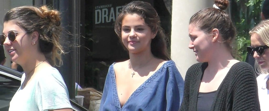Selena Gomez Denim Jumpsuit From Splendid 2018