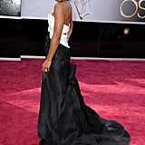 Kelly Rowland on the red carpet at the Oscars 2013.
