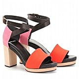 Pierre Hardy canvas and leather platform ($609)