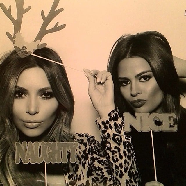 "Kim Kardashian shared a ""naughty"" picture on Christmas Eve. Source: Instagram user kimkardashian"