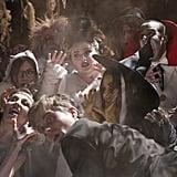 Super Fun Night Kimmie as the Bride of Frankenstein is way more fun.