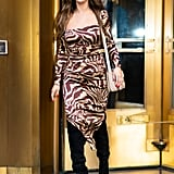 Selena Gomez Looks Incredible in This Tiger-Print Dress