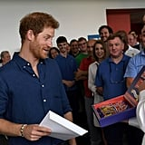 Prince Harry Visiting the Haribo Factory in Castleford 2017