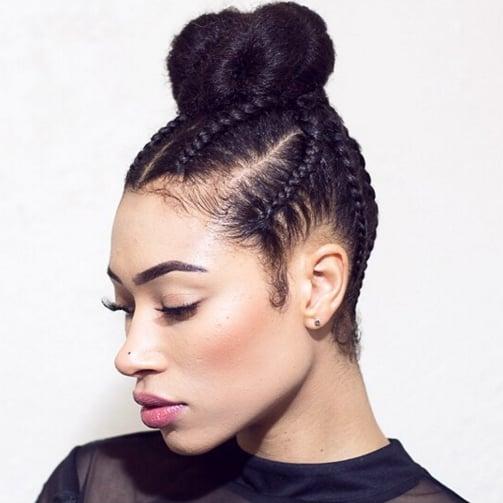 Phenomenal Cornrow Braids Updo Styles Popsugar Beauty Hairstyle Inspiration Daily Dogsangcom