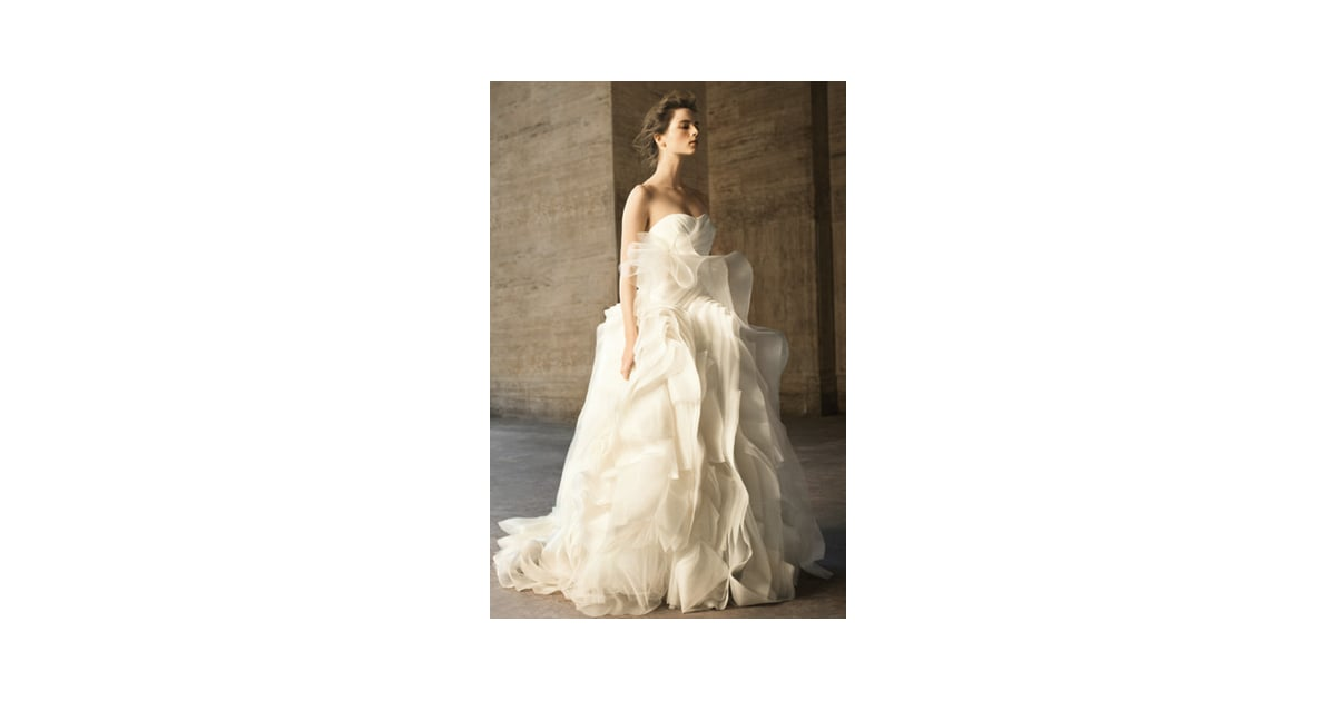 Vera wang david 39 s bridal wedding dresses popsugar for Affordable vera wang wedding dresses