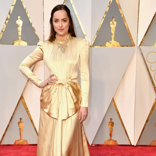 Dakota Johnson Wearing Gucci at the 2017 Oscars
