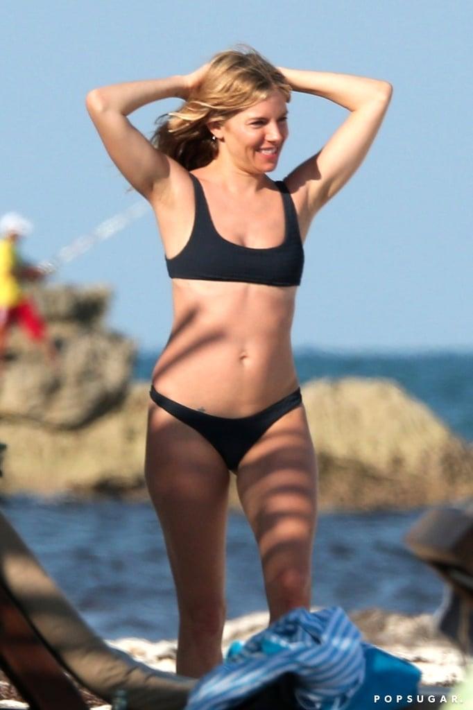 Sienna Miller's Black Bikini