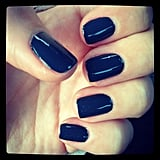 We're still feeling dark nails in this office! Alison opted for navy, one of her all-time faves.