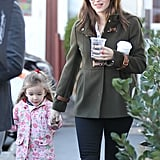 Ben Affleck, Jennifer Garner, and Seraphina Grab Breakfast Post-BAFTAs