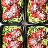Courgette Noodles With Turkey Meatballs