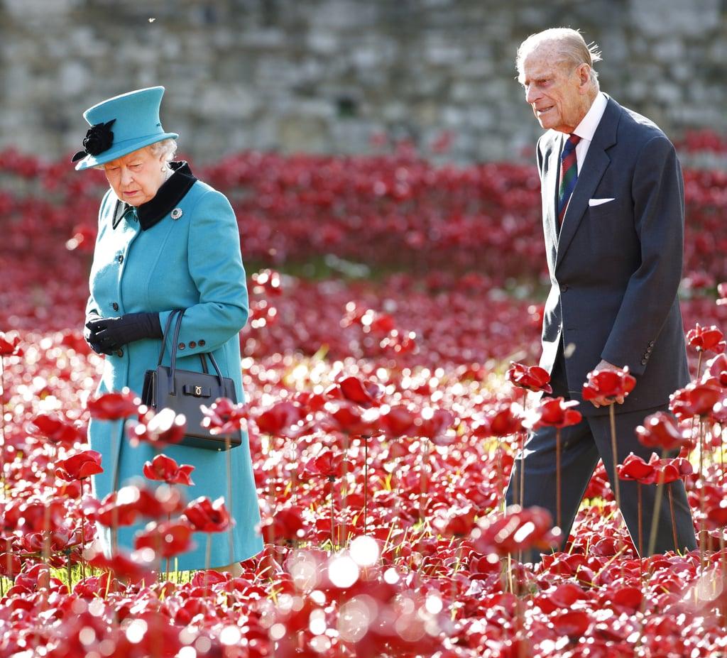 Nobody walks in front of the queen — not even her husband.