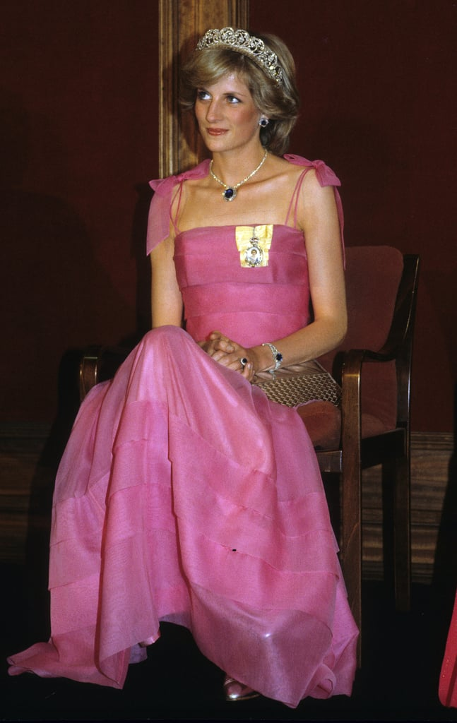 """Her favorite color was pink. She wore many shades of the color during her time as a royal.  She had to return one of her tiaras after divorcing Prince Charles. Diana was permitted to keep all the jewelry she amassed during her marriage, with the exception of the Cambridge Lover's Knot tiara, which Queen Elizabeth II gave to her as a wedding present after only wearing it once. It is now in the queen's possession and was lent to Kate Middleton in both 2015 and 2016.  She passed on her love of luxury watches. After her divorce from Prince Charles, Diana was frequently photographed wearing a gold Cartier Tank Francaise, a gift from her father, John Spencer. She bought William a similar timepiece from the famed French label, which she had engraved for one of his birthdays. After her death in August 1997, William chose to keep Diana's Cartier Tank as a memento — and in 2014, he gifted Kate Middleton with the Ballon Bleu de Cartier watch for their third wedding anniversary.  She had a special trick for carrying her purse. One of Diana's best style hacks was holding her clutches in front of her chest to hide her cleavage from photographers. """"We used to laugh when we designed what she called her 'cleavage bags,' little satin clutches which she would cover her cleavage with when she stepped out of cars,"""" designer Anya Hindmarch revealed.  She wasn't afraid to be fearless with fashion. Diana wore one of her most memorable looks — a formfitting black off-the-shoulder number by Greek designer Christina Stambolian — to a Vanity Fair dinner on the same night her estranged husband Prince Charles would officially confess to his adulterous relationship with Camilla Parker-Bowles in a televised documentary.  She never wore hats on hospital visits. The princess was known for her heartwarming moments with children, and in order to get closer to them during hospital visits, Diana nixed wearing headwear. """"You can't cuddle a child in a hat,"""" Kensington Palace exhibit curator Eleri Lynn tol"""