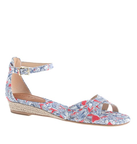 This J.Crew Marina mini wedge espadrille ($118) gives you just the right amount of height,  and the print is pretty perfect, too.