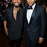 Miguel and John Legend mingled at the Sony Music afterparty.