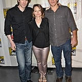 Sharlto Copley, Jodie Foster and Matt Damon at Comic-Con.