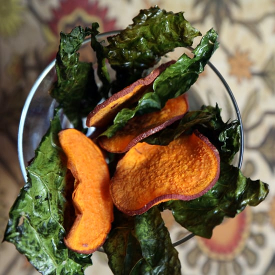 Baked Kale and Sweet Potato Chips Recipe