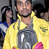 Aziz Ansari dressed as Walt from Breaking Bad.