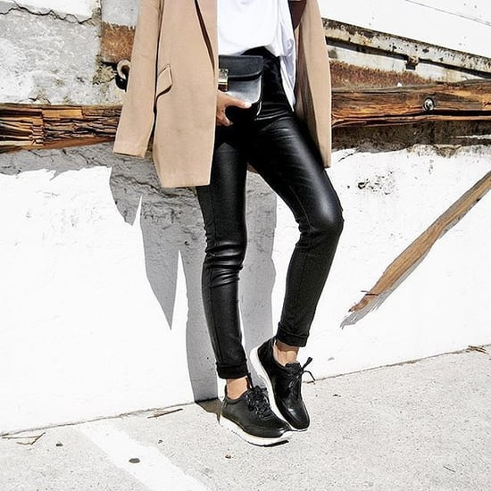 Chic Coats and Sneakers