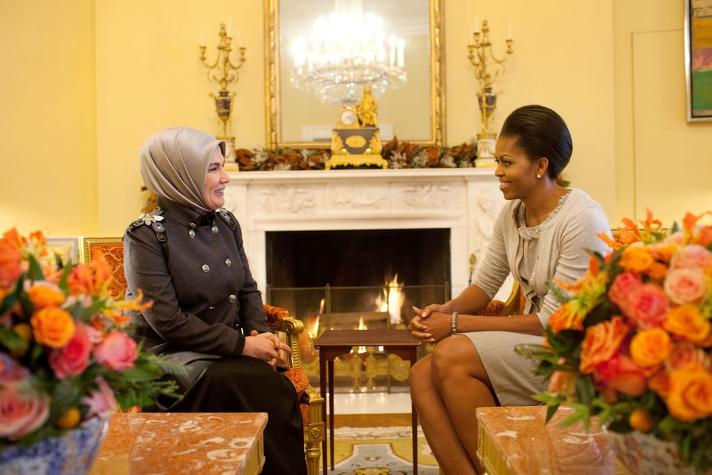 Meeting With Ermine Erdogan In The Yellow Oval Room Of The