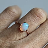Minimal VS Rose Gold Welo Opal Ring
