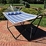 Brielle Quilted Double Spreader Bar Hammock with Stand