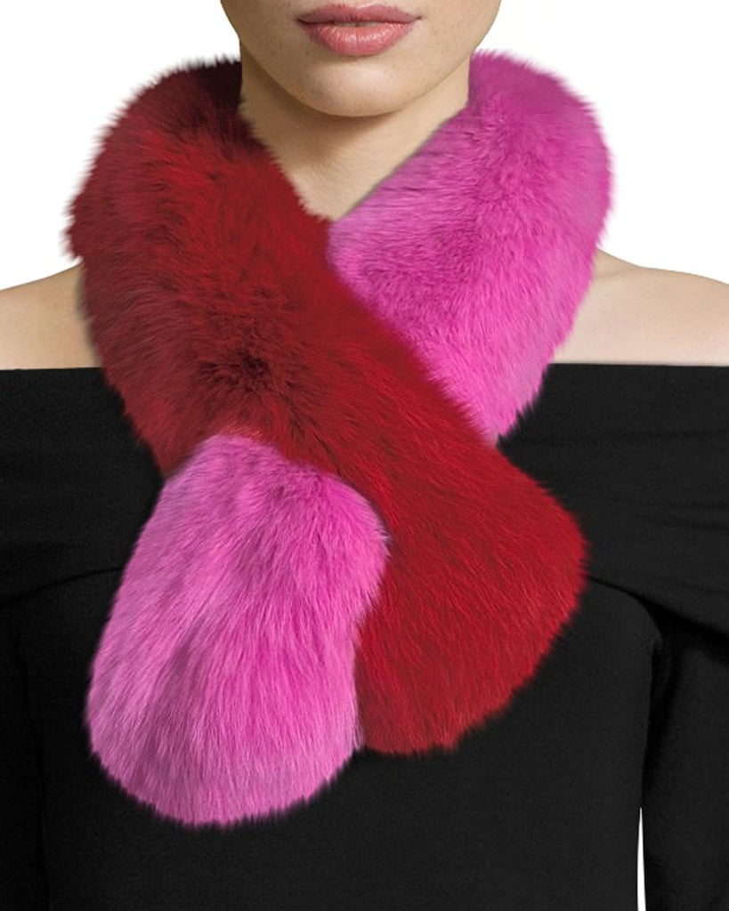 Two-toned fur scarf