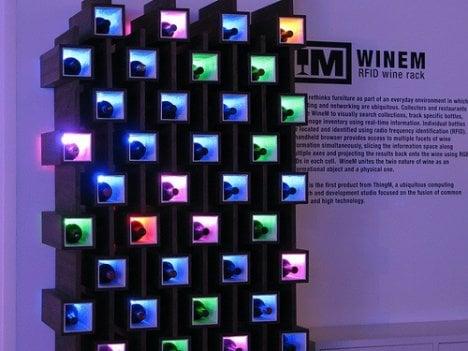 Wine RFID Rack: Totally Geeky Or Geek Chic?