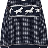 Band of Outsiders Fair Isle Horses Wool-Blend Sweater ($475)