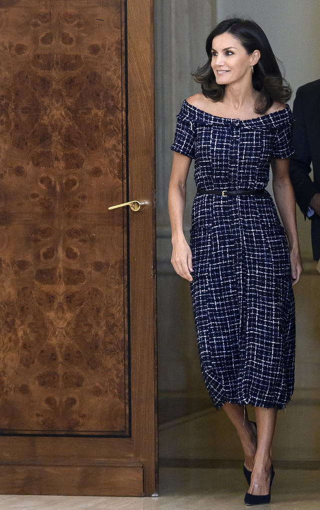 Queen Letizia at the Zarzuela Palace in Madrid