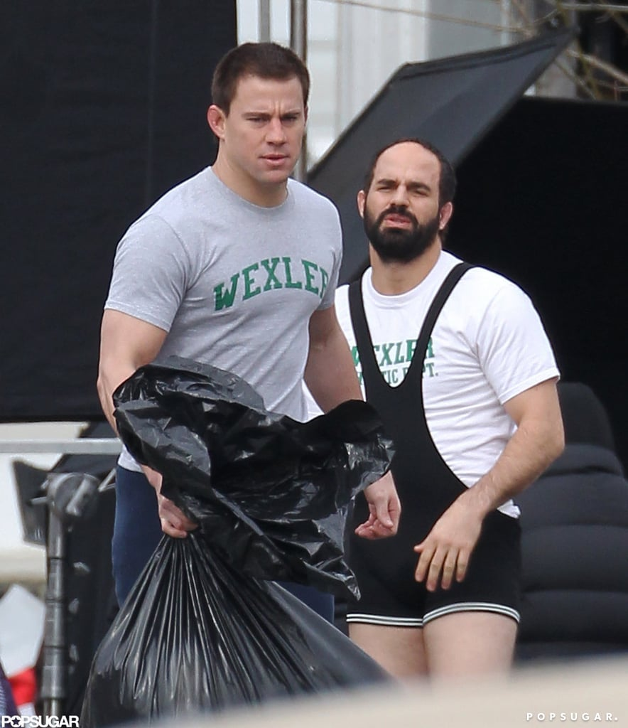 Channing Tatum and Mark Ruffalo filmed Foxcatcher.