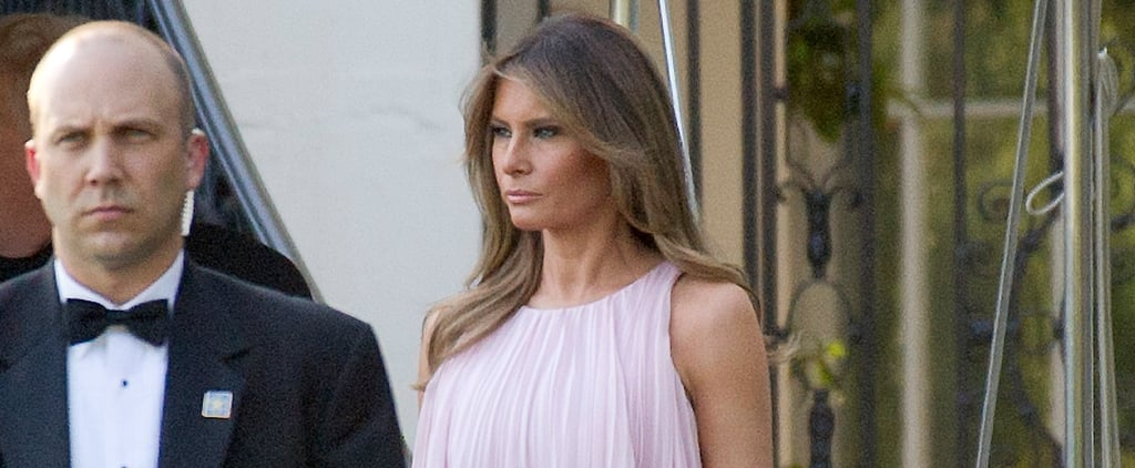 Melania Trump's Wedding Guest Dress Is Breezy, Pink, and Custom Made