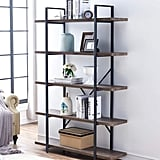 O&K Furniture 3-Shelf Industrial Bookcase