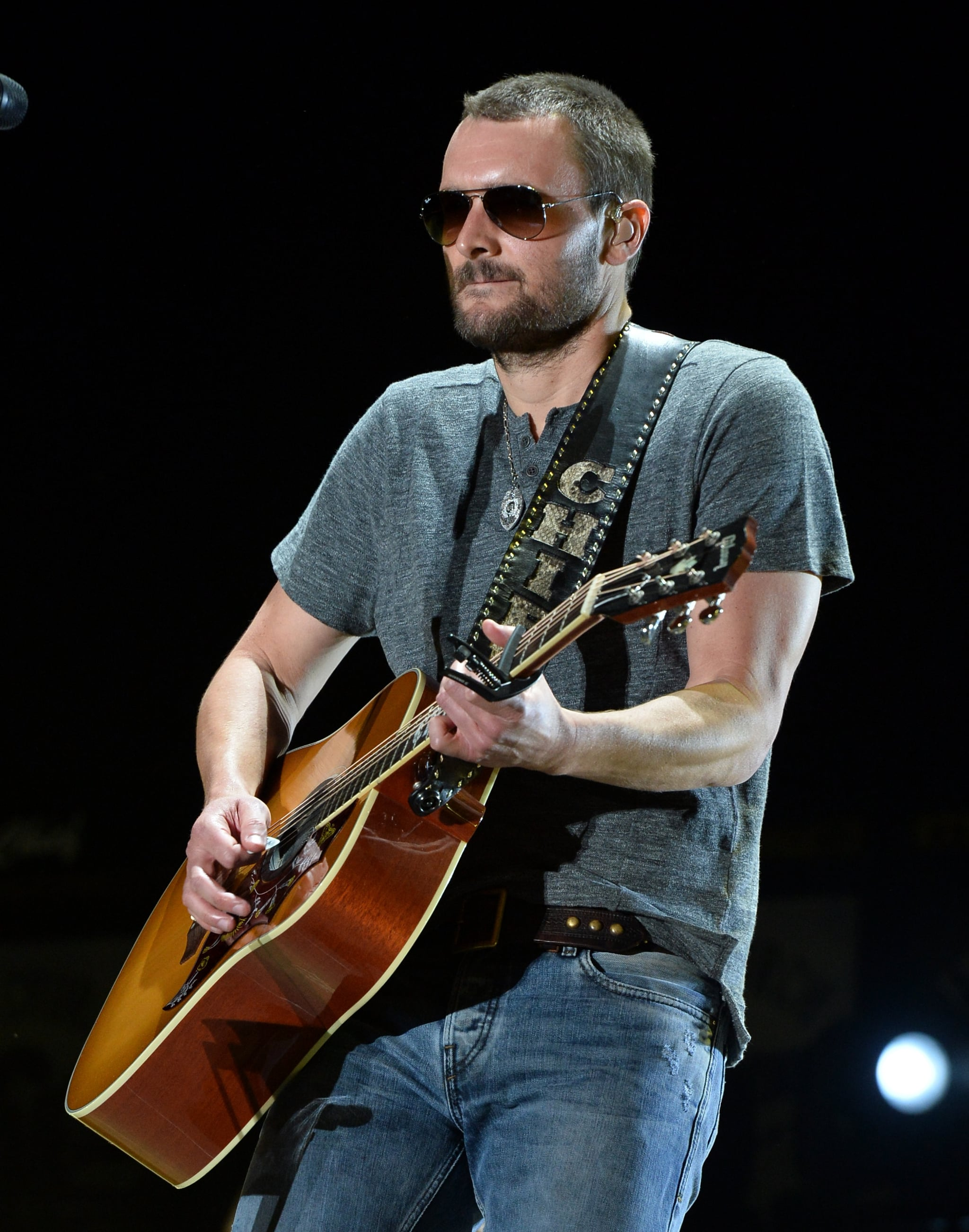 And when he gets all serious playing the guitar, he looks like this.
