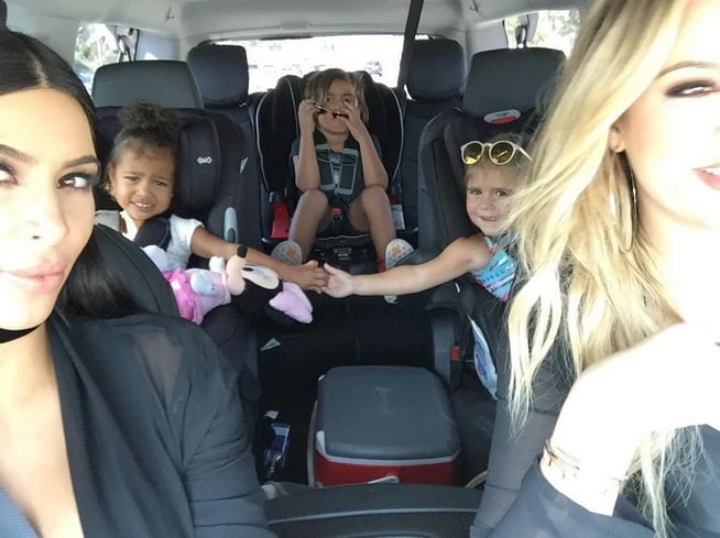 North took a road trip with her cousins and aunt Khloé in 2015.