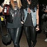 Jessica Alba and Kelly Sawyer were dressed as Axl Rose and Slash at Kate Hudson's Halloween party in 2014.