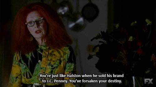 When Frances Conroy effortlessly rattled off fashion facts.