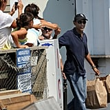 Picking up some takeout while on vacation in Martha's Vineyard in 2009.