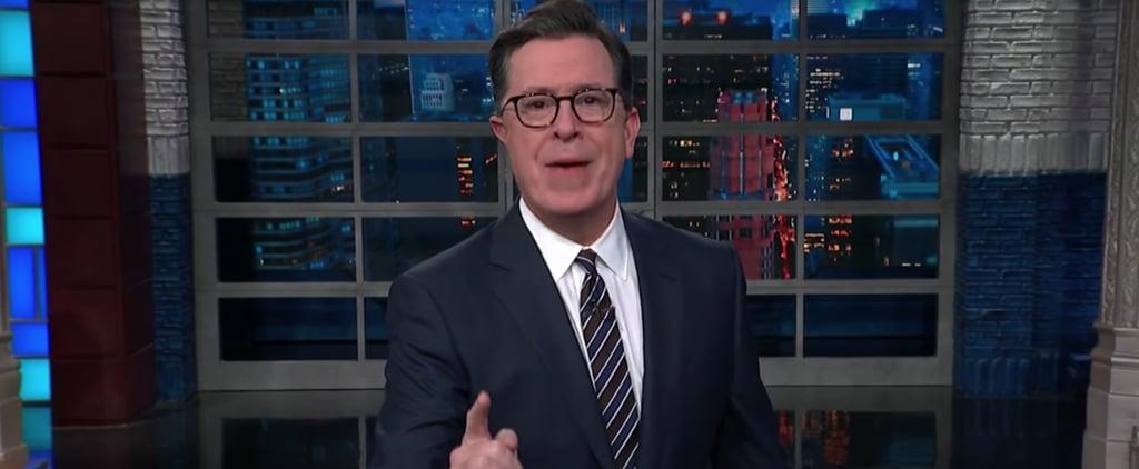 Stephen Colbert on Trump's Response to Matt Lauer Firing