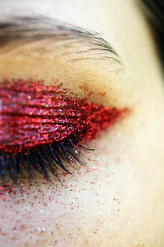 How to apply glitter to eyes, for a Dior catwalk look from BellaSugar UK