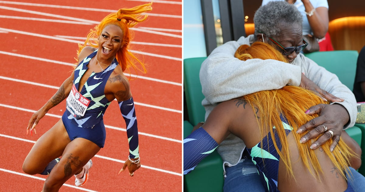 After Securing Her Olympics Spot, Sha'Carri Richardson Ran Straight to Her Grandma's Arms