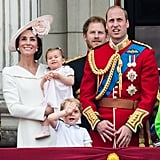 The whole family made an appearance a London's Trooping the Colour in June.